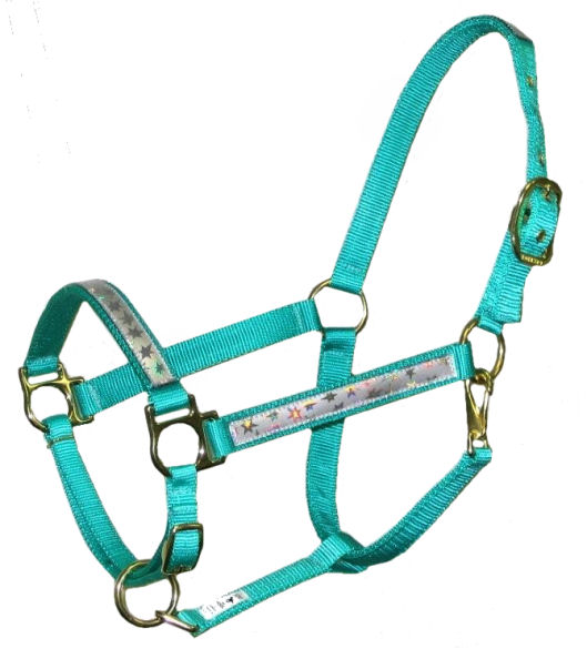 Ronmar Nylon Halter with Snap - Adjustable Chin - Stars on Ice