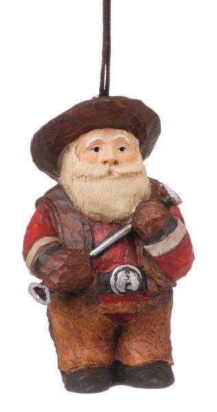 Gift Corral Cowboy Santa Ornament