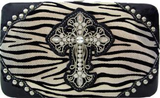 Wallet - Zebra Print/Cross