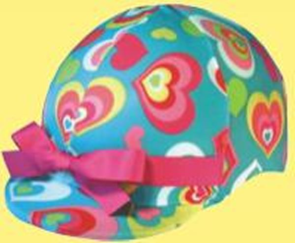 Helmet Helpers Pocket Helmet Cover - Blue Hearts Print