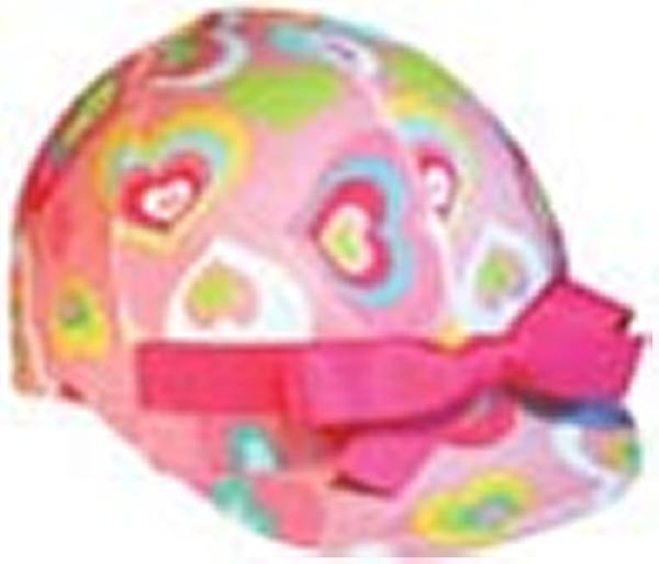 Helmet Helpers Pocket Helmet Cover - Pink Hearts Print