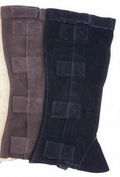 Suede Half-Chaps with hook & loop fastener