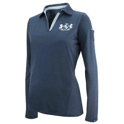 Irideon Ladies Long Sleeve Plus Size Rhythm Polo Shirt