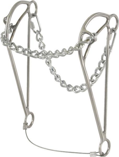 Trammell Chain Nose Hackamore-Bit