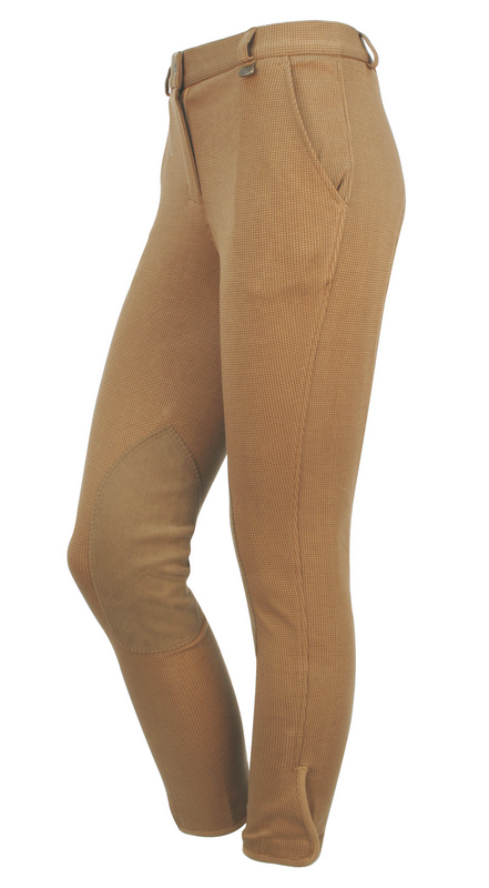 On Course Houndstooth Ladies Euro Seat Breeches