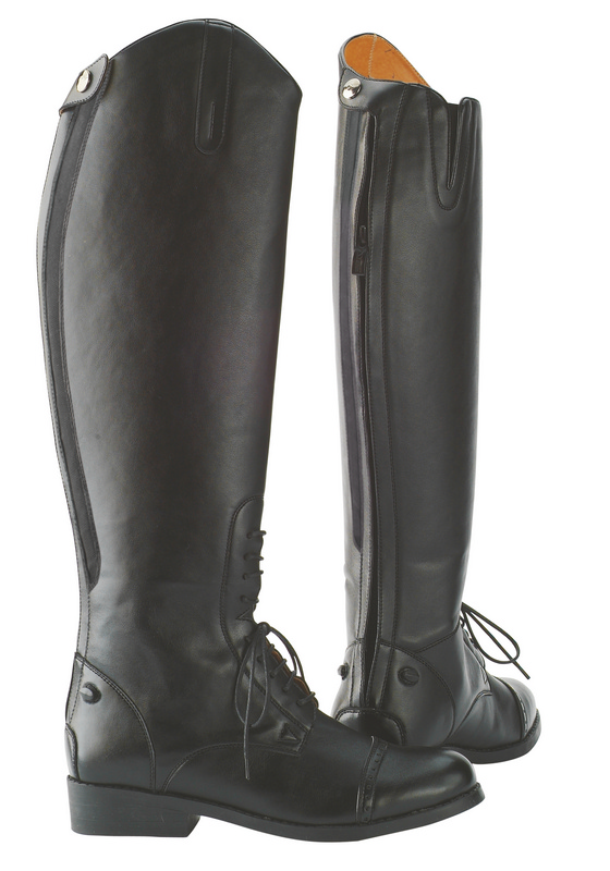 Saxon Equileather Field Boots With Elastic