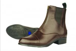 Dublin Assurance Zip Front Ladies Paddock Boot Ladies 6 Dark Brown