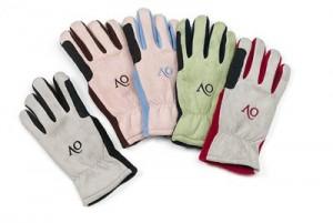 Ovation Ladies Polar Suede Fleece Gloves L Black/Grey