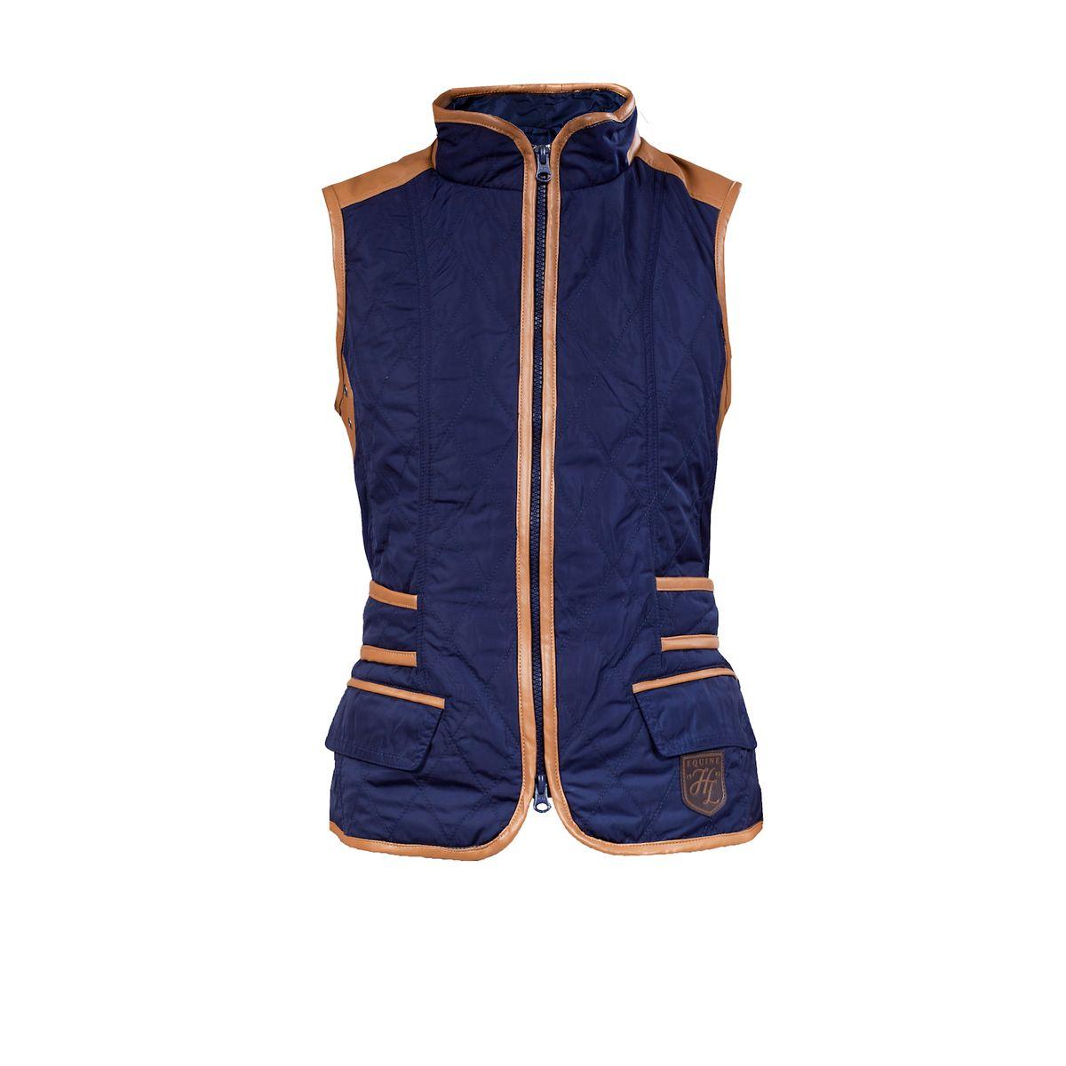HorZe Jadine Women's Quilted Vest Medium Peacoat Dark Blue at Sears.com