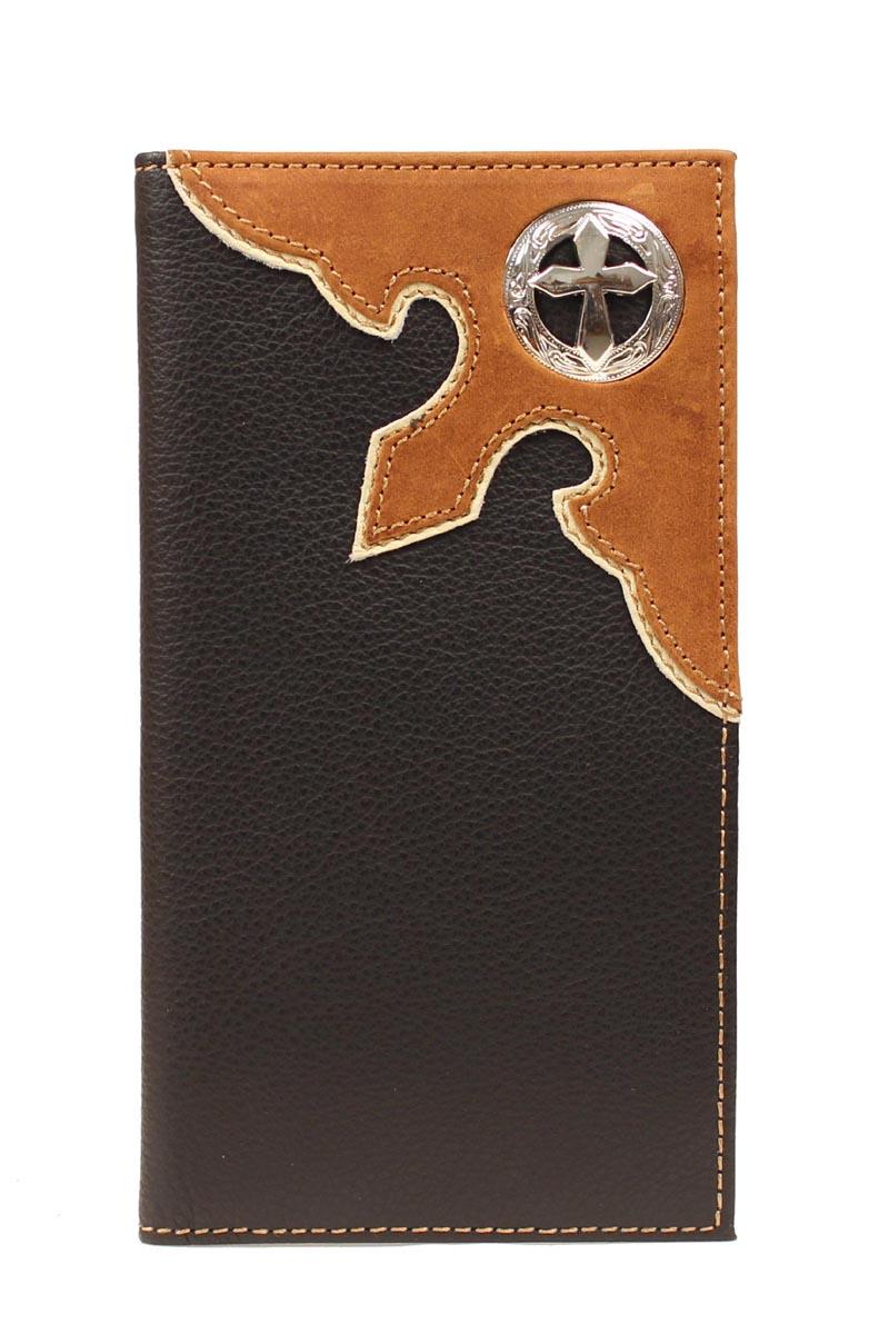 Nocona Belt Company Nocona Rodeo Filigree Cross Concho Wallet Black