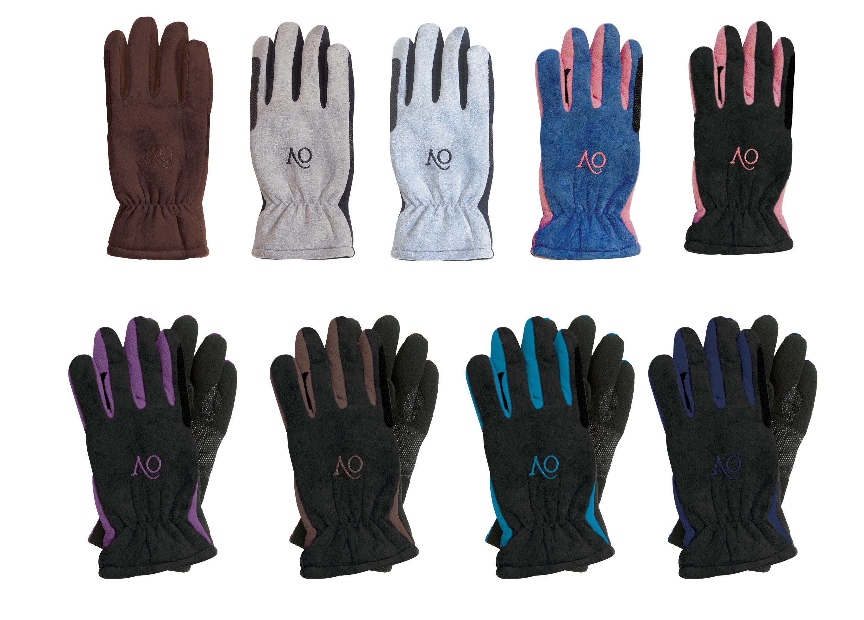 Ovation Ladies Polar Suede Fleece Gloves Medium Pink/Black