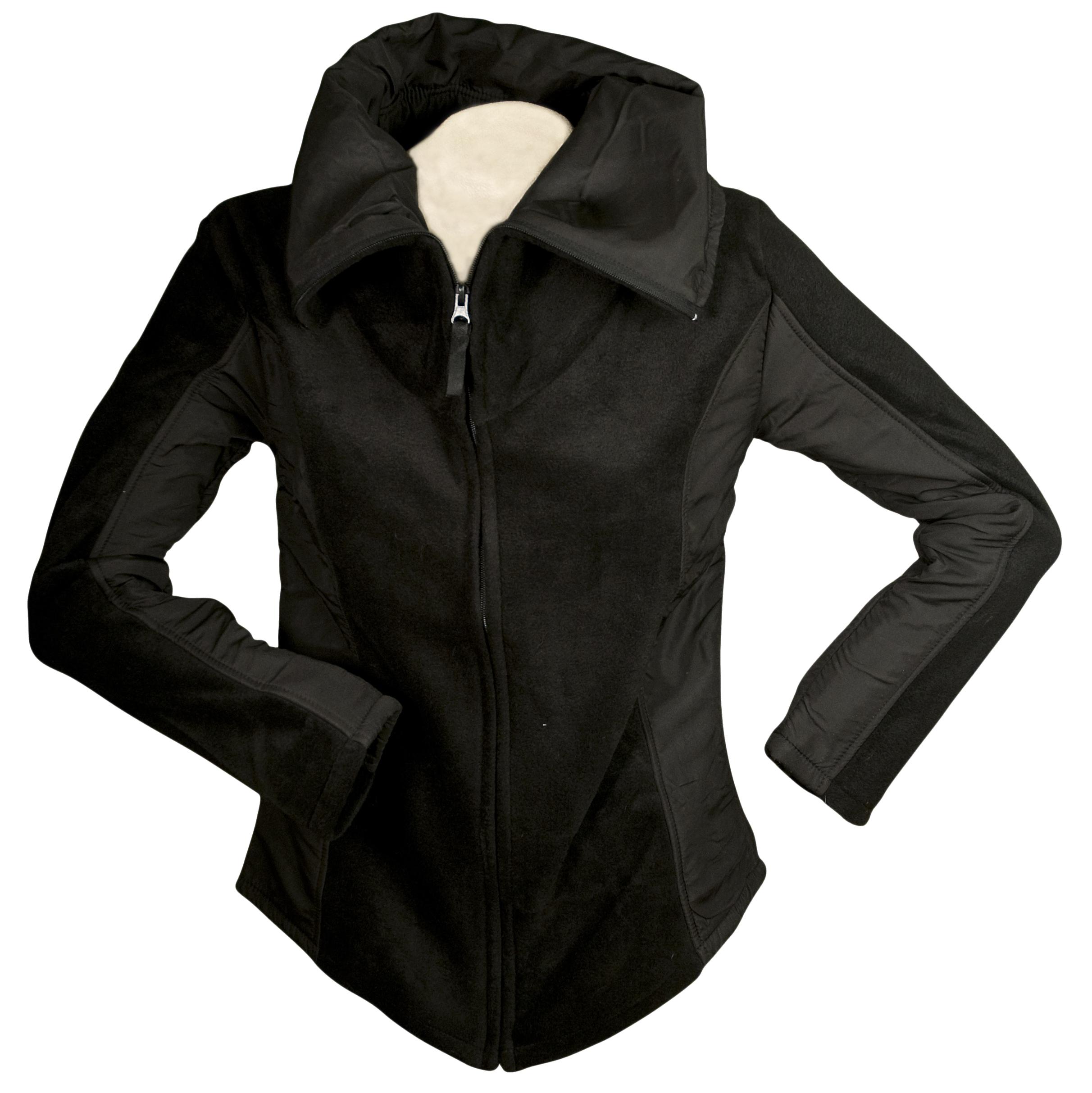 HorseLoverZ Contact 2-Tone Fleece Sports Jacket X-Large Black/Black at Sears.com