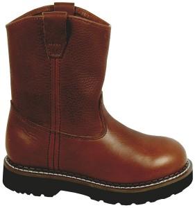 Smoky Mountain Youth Jackson Leather Wellington Boot 3.5R Brown
