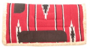 "HorseLoverZ Built Up Western Saddle Pad with Southwest 24x24"" Red southwest design at Sears.com"