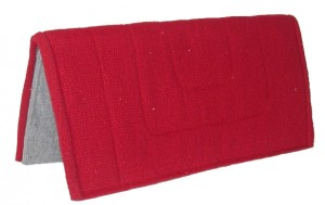 "HorseLoverZ Hand-Woven Western Saddle Pad 32"" x 32"" Red at Sears.com"